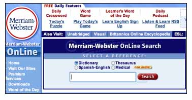 Merriam Webster Online