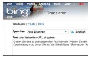 Bing Deutsch Englisch Ubersetzung